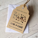 Set Of 10 Modern Foil Tag Style Save The Date Cards