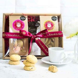 All Butter Spiced Indian Shortbread And Tea Gift Set - food & drink sale