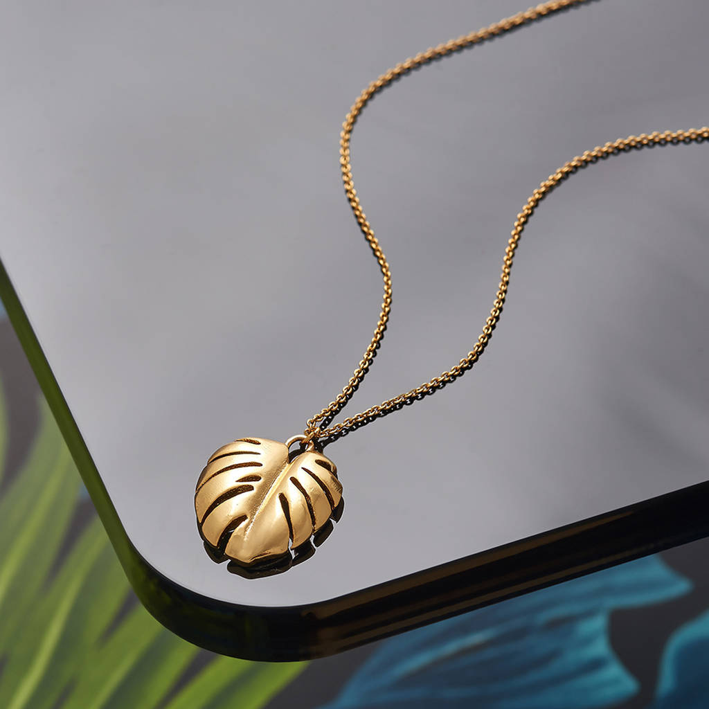 necklace gold jewelry photo pendant shop a santayana leaf yellow of miami