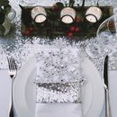 Silver Sequin Napkin and Runner