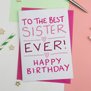 Birthday Card For Sister