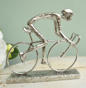 Cyclist Sculpture