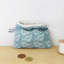 Cow Parsley Coin Purse - Seagreen