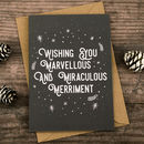 Marvellous Merriment Christmas Card
