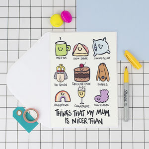 'My Mum Is..' Funny Birthday Card - shop by category