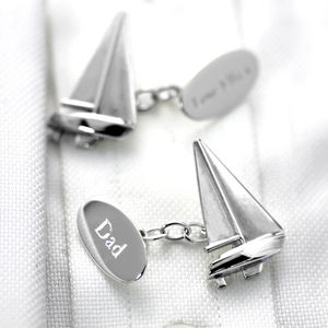 Sailing Boat Cufflinks Solid Silver