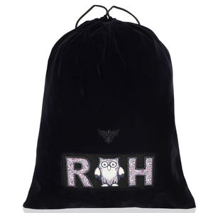 Personalised Velvet Shoe Bag