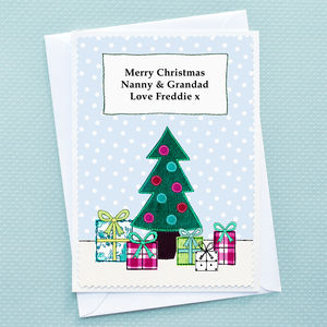 'Christmas Tree' Personalised Childrens Christmas Card