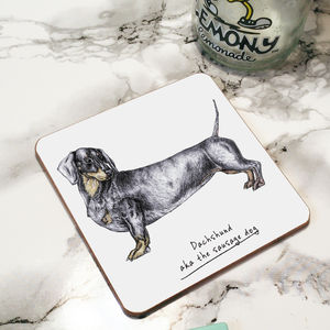 Dachshund Dog Drinks Coaster