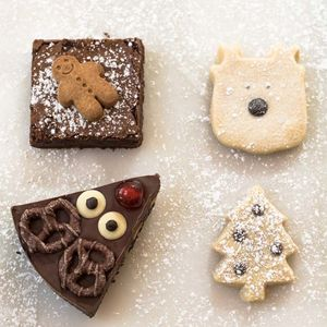Christmas Chocolate And Shortbread Box Serves Eight - biscuits and cookies