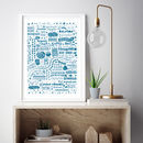 'I Love You London' Typographic Giclee Art Print