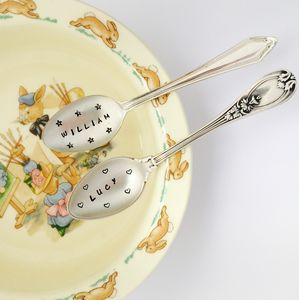 Personalised Silver Plated Baby Spoon - christening gifts