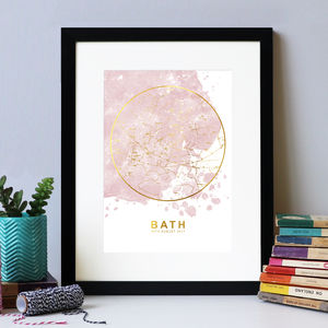 Blush And Gold Foil Personalised Star Chart Print - best gifts for mothers