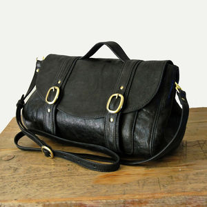 Handcrafted Black Leather 'Preston' Bag