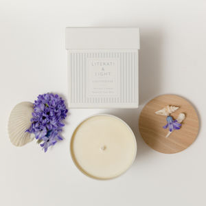 'Lighthouse' Floral Sea Salt Luxury Soy Candle - candles & home fragrance
