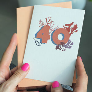 Recycled 40th Birthday Milestone Age Card