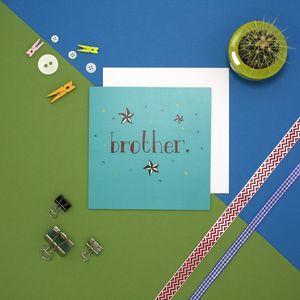 'Brother' Vintage Birthday Card - sale