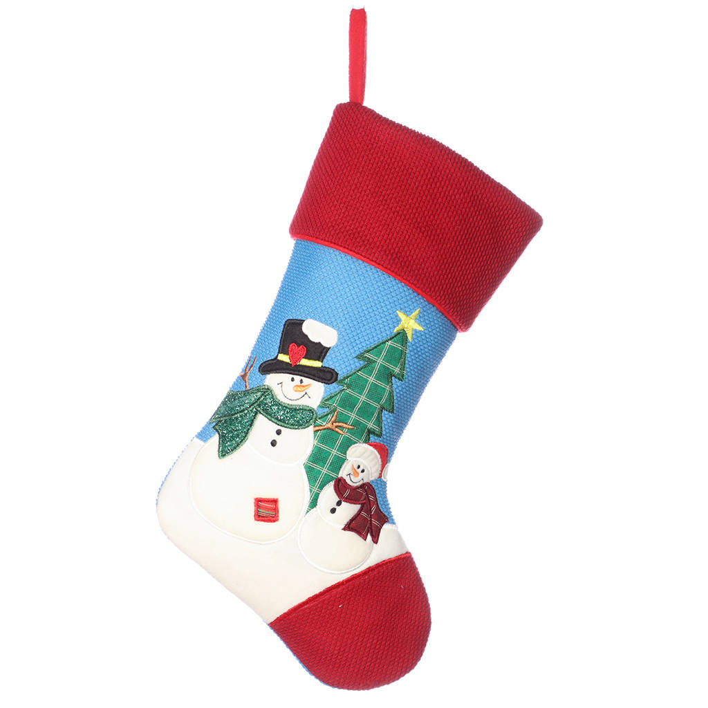 patchy and pete personalised snowman kids stocking by dibor ...