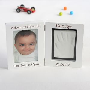 Personalised Baby Imprint Kit And Photo Frame - baby's room