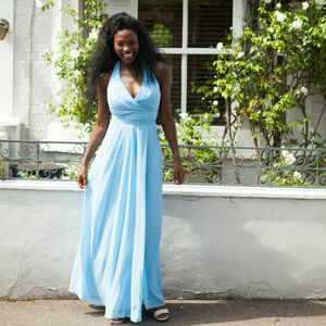 Floor Length Halterneck Bridesmaid Or Prom Dress