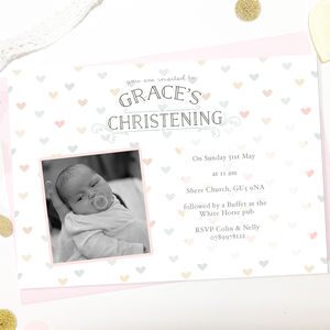 Christening Invitations 'Little Heart' - invitations