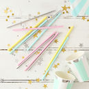 Pastel Chevron Print Party Straws