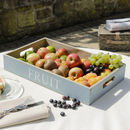 Farmhouse Blue Country Kitchen Fruit Tray
