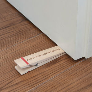 Wood Peg Doorstopper - home accessories