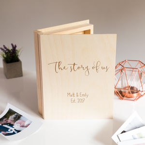 Personalised Story Of Us Keepsake Box - best wedding gifts