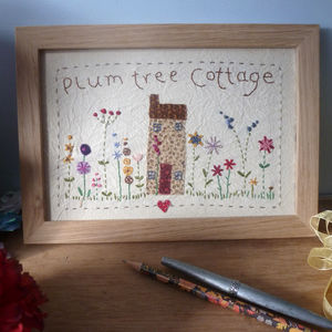Personalised Embroidered House Sampler