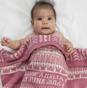 Personalised Baby Blanket In Cashmere - sleeping