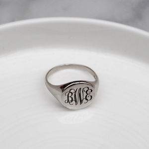 Signet Monogram Ring