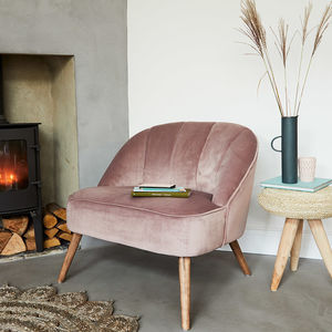 Dusky Pink Velvet Occasional Chair - furniture