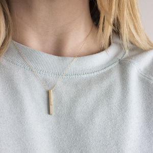Brushed Brass Dipped Necklace - necklaces & pendants