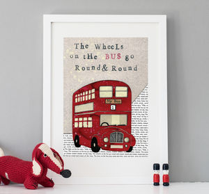 London Bus Print - baby's room
