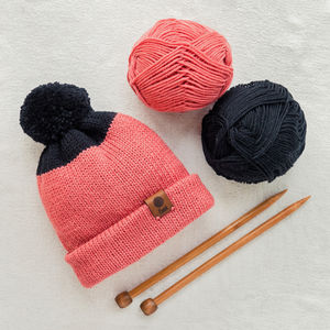 Hand Knitted Merino Beanie - hats, scarves & gloves