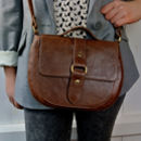 Handcrafted Brown Leather Saddle Bag