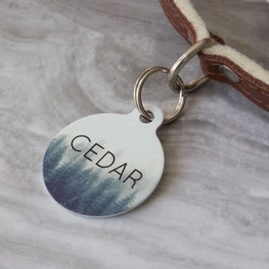 Forest Trees Pet ID Tag