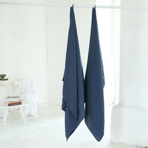Linen Waffle Bath Towel Washed - towels & bath mats