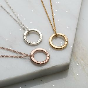Personalised 9ct Gold Mini Message Necklace - necklaces & pendants