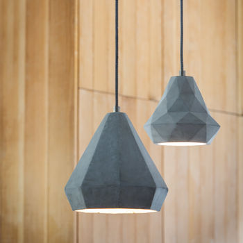Geometric Cement Hanging Lamp