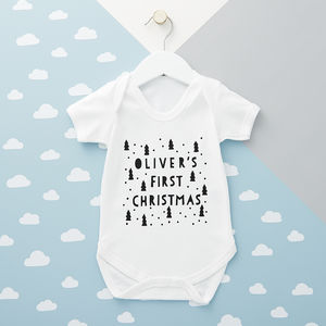 Personalised First Christmas Babygrow - gifts for babies & children