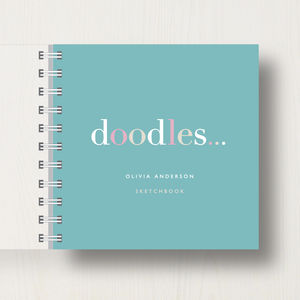 Personalised 'Doodles' Small Sketchbook