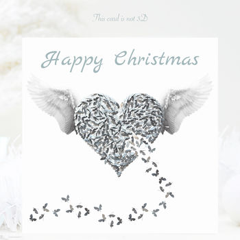 Angel Christmas Card Pack, Five Butterfly Angel Cards