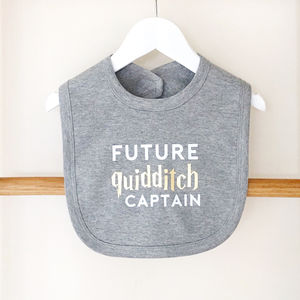 'Future Quidditch Captain' Baby Bib