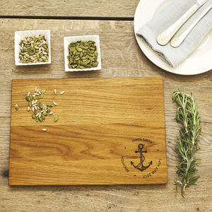 Anchor Personalised Oak Chopping Serving Board - kitchen