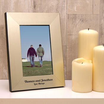 Personalised Gay Wedding Photo Frame