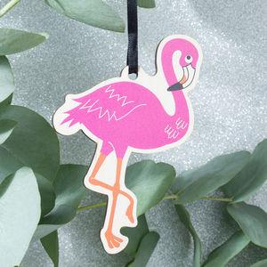 Flamingo Decoration Keepsake Card - view all decorations