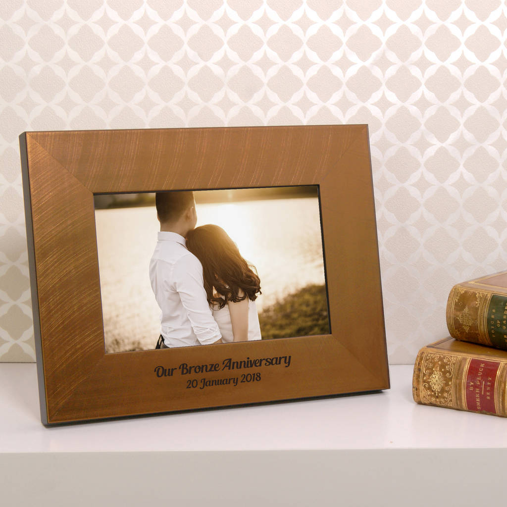 Personalised Bronze 8th Wedding Anniversary Photo Frame By Urban