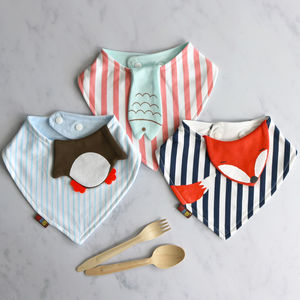 Little Animal Dribble Bib - gifts for babies
